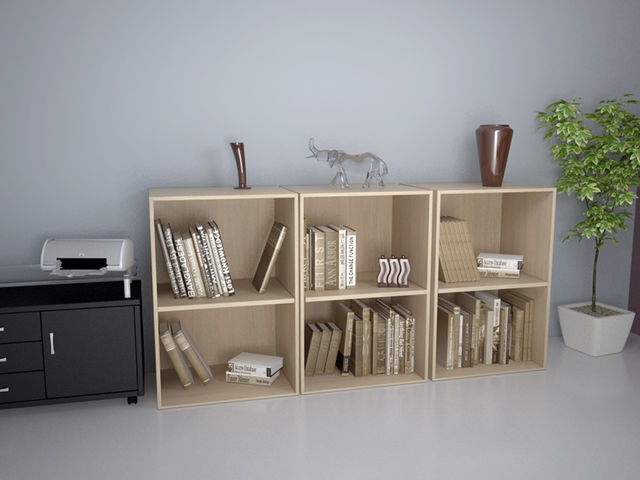 armoire basse ouverte unie deskissimo l60 h82 5 h121 usine bureau. Black Bedroom Furniture Sets. Home Design Ideas