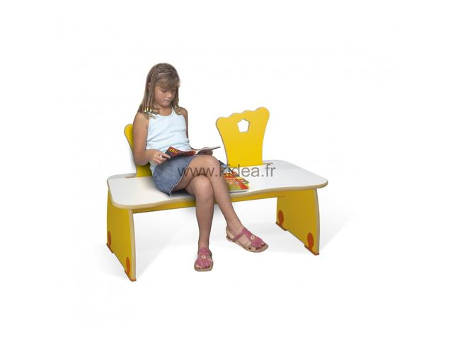 banc pour enfants couronne kidea. Black Bedroom Furniture Sets. Home Design Ideas