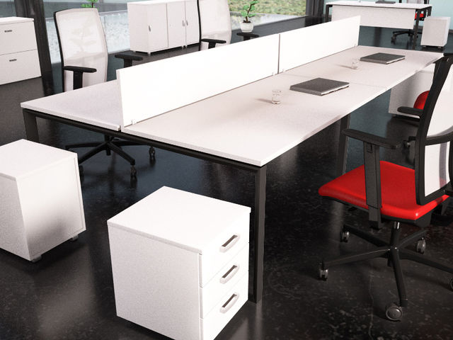 bureau bench 4 personnes market usine bureau. Black Bedroom Furniture Sets. Home Design Ideas