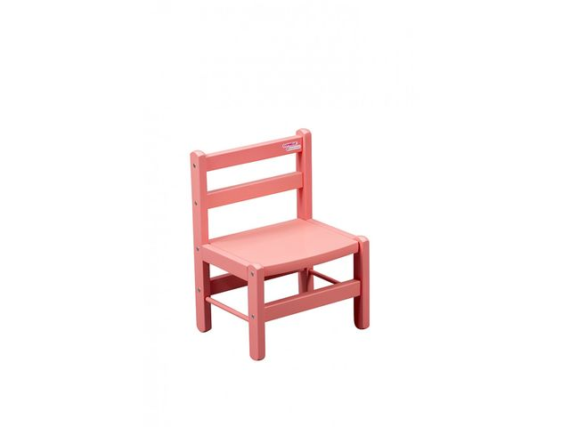 Chaise basse laqu e rose combelle for Chaise basse combelle