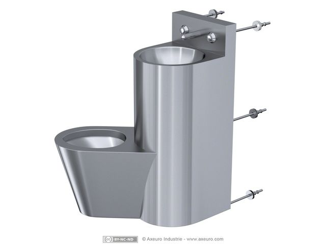 combin inox lavabo wc porte papier toilette axeuro. Black Bedroom Furniture Sets. Home Design Ideas