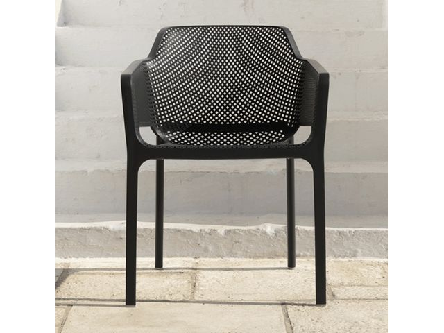 fauteuil de terrasse moderne en polypropyl ne net 4 pieds. Black Bedroom Furniture Sets. Home Design Ideas