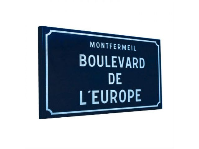 Plaque de rue - Angles droits à bords tombés – Standard_SIGNASTORE