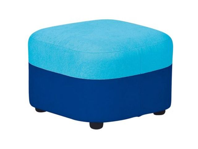pouf g ant tissu bleu fonc et turquoise planet eveil. Black Bedroom Furniture Sets. Home Design Ideas