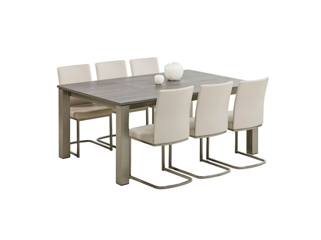Table de cuisine carr e extensible en stratifi vario for Cuisine pour collectivite