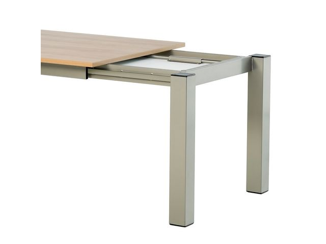 Table de cuisine carr e extensible en stratifi vario for Amenagement cuisine carree
