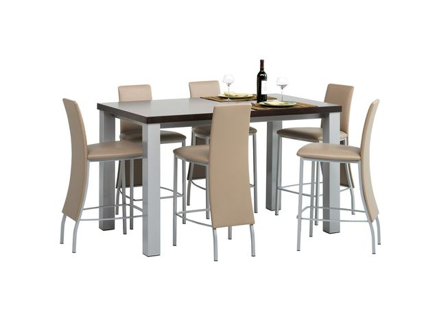 Table De Cuisine Rectangle En Stratifié Hauteur 90 Cm Quadra