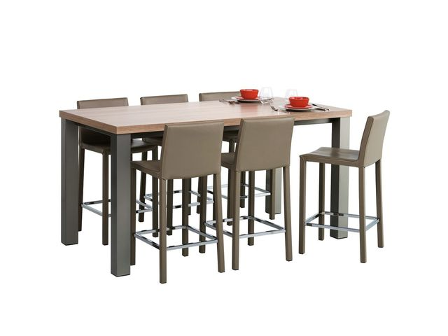 Table de cuisine rectangle en stratifi hauteur 90 cm for Table de cuisine hauteur 90 cm