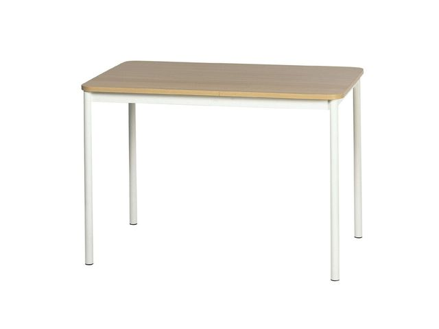 Table de cuisine rectangulaire en stratifi basic 4 pieds for Table de cuisine en stratifie