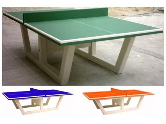 Table de ping pong en b ton verte ou bleu direct - Table de ping pong exterieur en beton ...