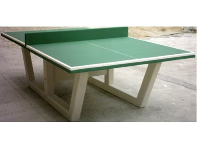 Table de ping pong en b ton verte ou bleu direct collectivit s - Table ping pong exterieur beton ...