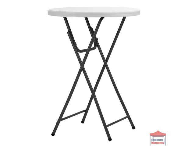 table de r ception ronde haute pliante de 80cm mange debout en hdpe france barnums. Black Bedroom Furniture Sets. Home Design Ideas