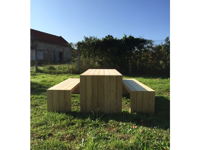 Table et bancs DESIGN_L'ATELIER BOIS ONF_1