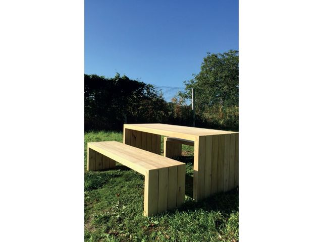 Table et bancs DESIGN_L'ATELIER BOIS ONF_2