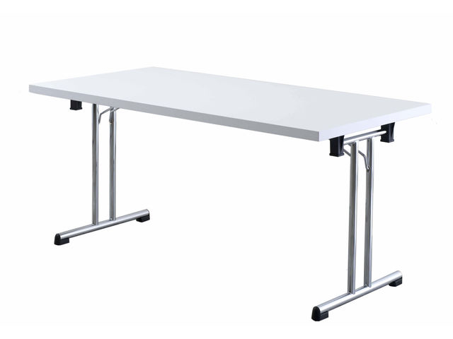 table pliante 160 x 80 cm blanc officemeeting mon bureau design. Black Bedroom Furniture Sets. Home Design Ideas