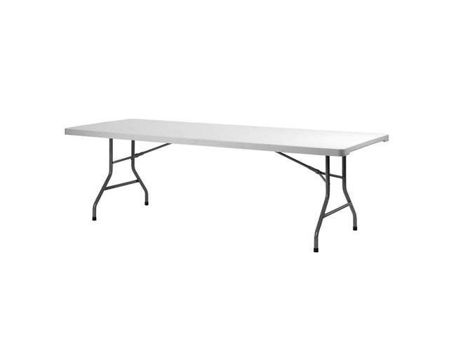 Table pliante carr e ou rectangulaire xxl 4 pieds - Table carree ou rectangulaire ...