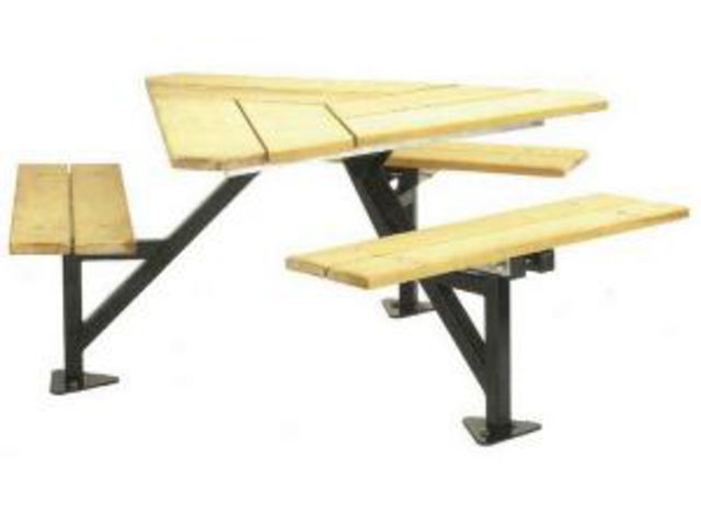 Table triangle iroko abc collectivit s for Abc espace vert