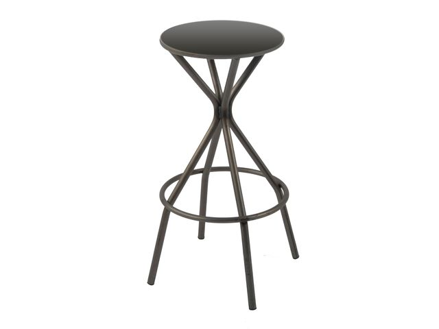 tabouret de bar industriel en m tal opium 4 pieds. Black Bedroom Furniture Sets. Home Design Ideas