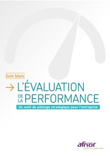 Livre blanc / Evaluation de la performance Afnor Certification